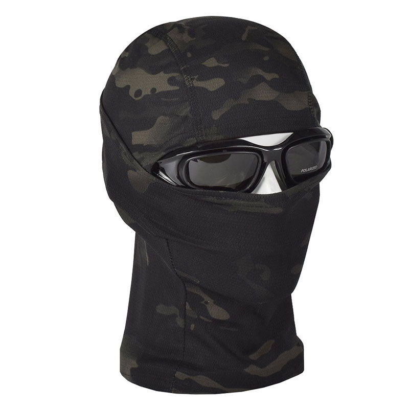 Breathable Chiefs Rattlesnake Cam Tactical Mask Airsoft Paintball Full Face Mask Motorcycle Hunting Caps