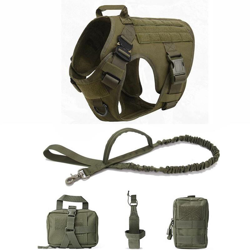 Military Tactical Dog Harness Pet Training Dog Vest Metal Buckle German Shepherd K9 Dog
