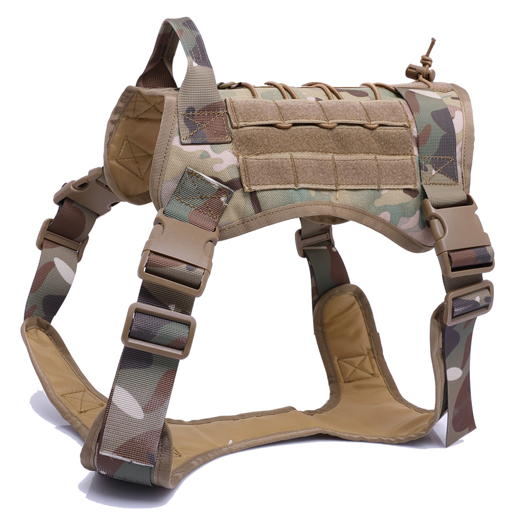 Miliray Tactical Nylon Harness For Big Large Dogs K9 Dog Clothes Harness Accessories