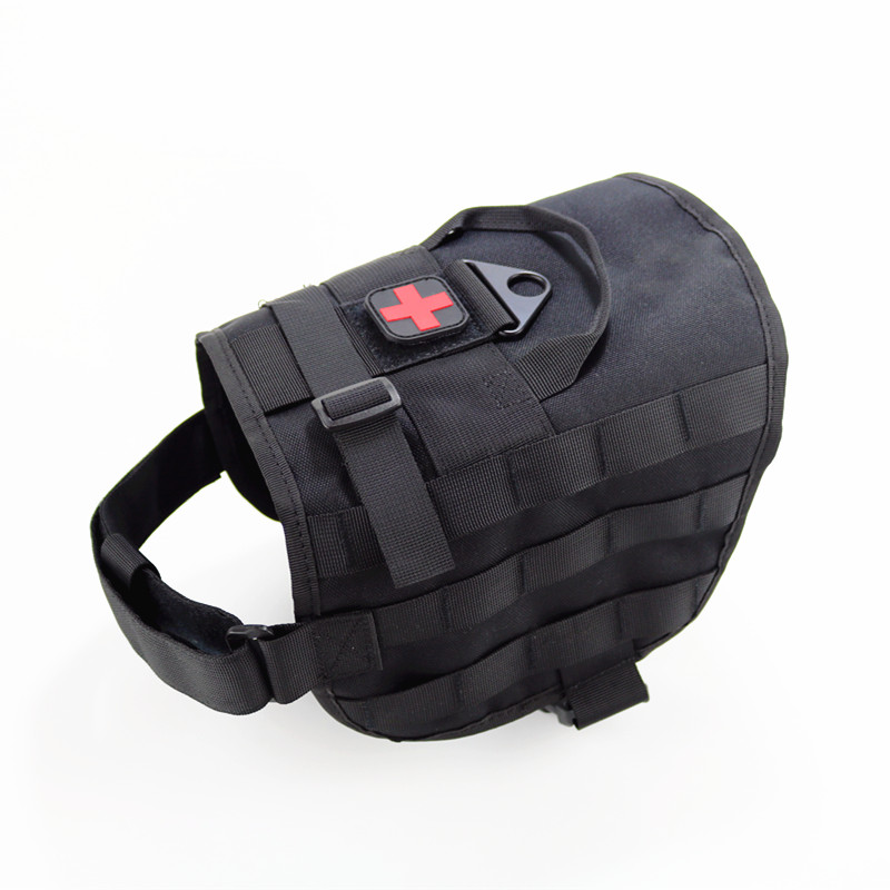 K9 Pet Dog Modular Harness Working Traning Vest Walking Hiking Hunting Molle Pouches Vests