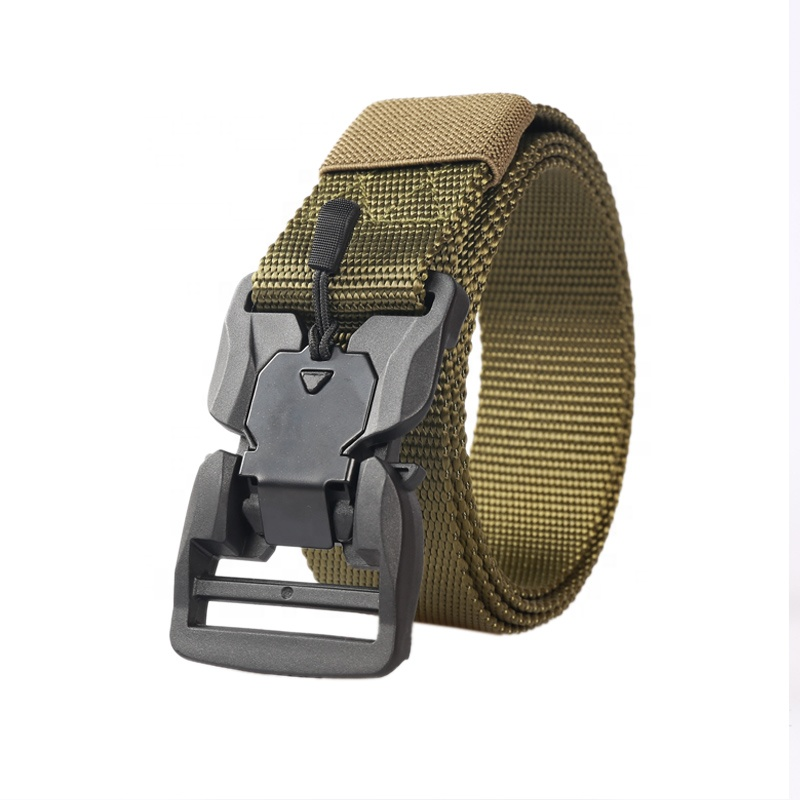 Official Tactical Belt Hard ABS Quick Release Magnetic Buckle Military Belt
